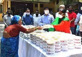 Poor Getting Food In Pandemic